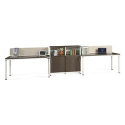 "Element Two 59""W Desks with Storage Cabinet, 14843"