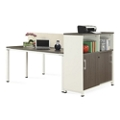 "Element 48""W Two Person Workstation with Storage, 10246"