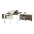 "Element 59""W Two Person Workstation with Storage, 14845"