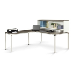 "Element 72""W L-Desk with Hutch , 14850"