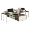 "Element Four Person 59""W Workstation with Storage, 14851"