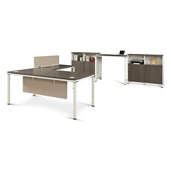 """Element Executive 71""""W L-Desk Set with Standing Height Desk, 14852"""