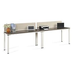 "Element Two Benched 59""W Desks with Desktop Dividers , 14856"