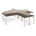 Element Four Executive L-Desks with Privacy Panels , 14857