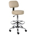 Armless Vinyl Medical  Stool with Foot Ring, 25257