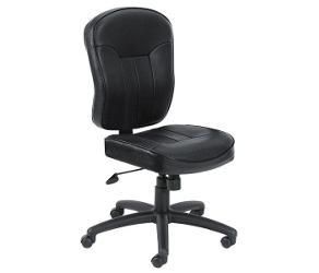 Armless Bonded Leather Computer Chair, 50848