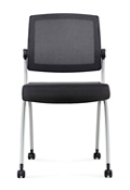 Nex Armless Mesh Back Polyurethane Nesting Chair with Dual-Purpose Casters, 51656
