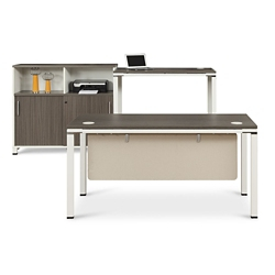 Element Executive Desk Set with Storage Cabinet, 86127