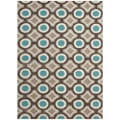Geometric Pattern Area Rug - 5'W x 7.5'D, 82536