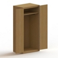 "75""H Wood Wardrobe Cabinet, 36456"