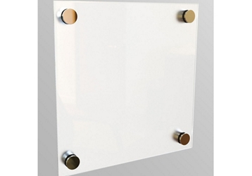 1 ft x 1 ft Square Tempered Glass Dry Erase Board, 80531