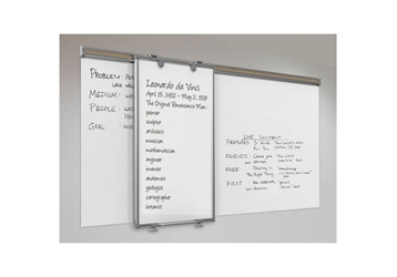 "Track-Slide Whiteboard and Base – 8'W x 44""H, 80953"