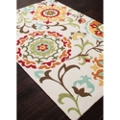 Flower Pattern Area Rug - 5'W x 7.5'D, 82526