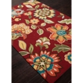 Rich Flower Pattern Area Rug - 5'W x 7.5'D, 82528