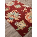 Gentle Flower Pattern Area Rug - 7.5'W x 9.5'D, 82531