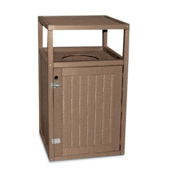 Recycled Outdoor 32 Gallon Trash Receptacle, 85370