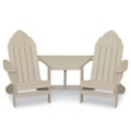 Two Outdoor Adirondack Chairs with Center Table, 51387