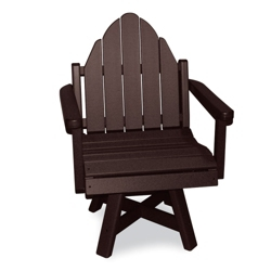 Outdoor Adirondack Swivel Dining Chair, 51393