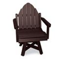 Outdoor Adirondack Swivel Dining Chair, 51393
