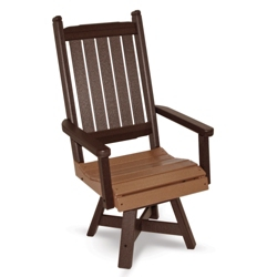 """Days End High Back Swivel Dining Chair 20""""W, 51459"""