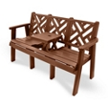 """Outdoor Bench with Drop Center Table - 60""""W, 82321"""