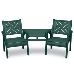 Two Chippendale Chairs and Table, 85385