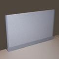 "Desktop Fabric Return Screen for 30"" x 13"" Space, 21263"