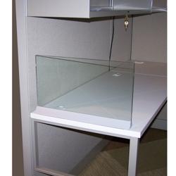"Desktop Glass Screen - 48"" x 13"", 20113"