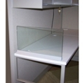 "Desktop Glass Return Screen for 30"" x 13"" Space, 20066"