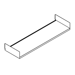 "Open Straight Shelf - 36""W, 21756"