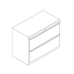 "Two Drawer Lateral File - 30""W, 30888"
