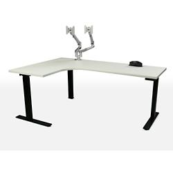 "Height Adjustable Left Hand J-Desk - 70""W, 46146"