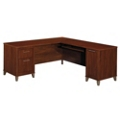 Reversible L-Desk with Storage Tower, 13251