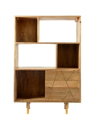 "Three Shelf/Six Compartment Bookcase - 49""H, 33059"