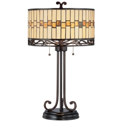 Tiffany Style Dark Bronze Table Lamp, 82675