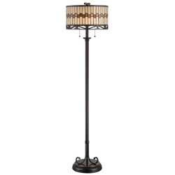 Tiffany Style Dark Bronze Floor Lamp, 82677