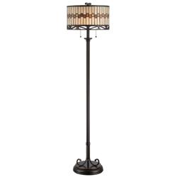 Tiffany Style Dark Bronze Floor Lamp, 82677