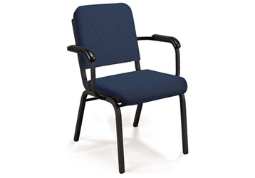 Premium Upholstered Stack Chair with Arms., 51312