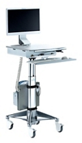 LCD Cart with Hot Swappable Column-Mounted Battery, 26509