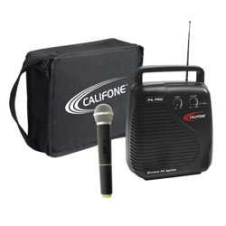 Portable Public Addess System with Wireless Mic and Carrying Case, 43362
