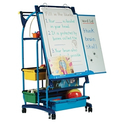 """Teaching Easel with Seven Tubs - 30""""W x 64.5""""H, 81006"""