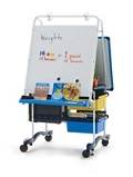 Whiteboard Writing Center with One Device Charging and Storage Tub, 30651