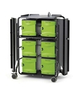 Tech Tub2 High Security Cart with Storage and Charging Tubs for 32 Devices, 30649