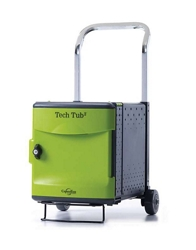 Tech Tub2 Six Tablet Charging and Storage Tub with Trolley, 30645