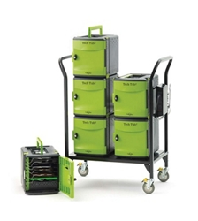 Tech Tub2 Cart with Storage and Charging Tubs for 32 Devices, 30648