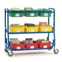 Library Cart with Nine Storage Tubs, 30658