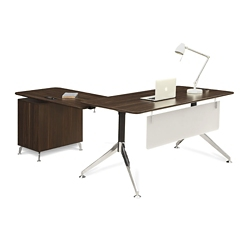 "Astoria Two-Tier L-Desk with Reversible Return - 60""W, 14432"