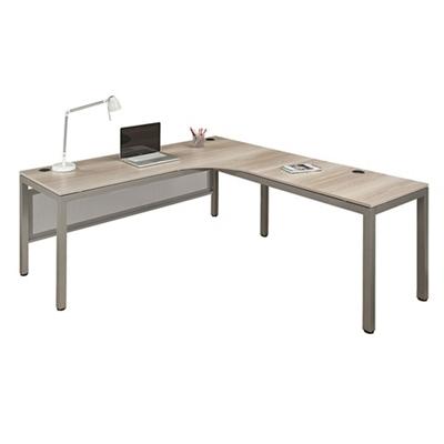 Office corner desk Modern At Work Corner Desk With User Curve 72 National Business Furniture Corner Desk Compact Workstations National Business Furniture