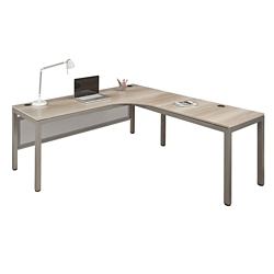 At Work Corner Desk With User Curve 72 W