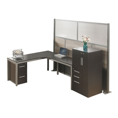 At Work L Desk Office With Right Wardrobe, 14972
